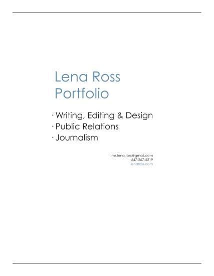 LR portfolio cover